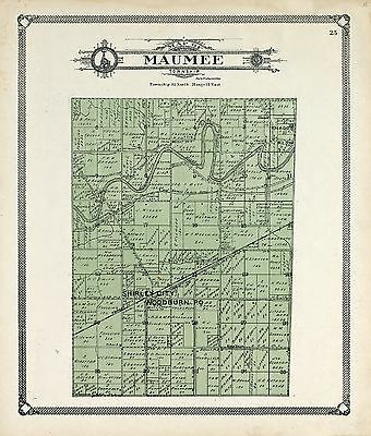 ALLEN COUNTY INDIANA 1907 plat Atlas map LAND OWNERS GENEALOGY history DVD P122
