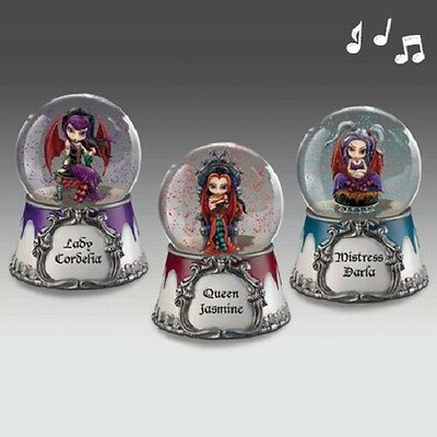 Midnight Melodies Water Globe set of 3 -Jasmine Becket Griffith Fairy Snow Globe
