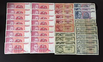 Yugoslavia Dinar Dinara Notes x 35 Mixed