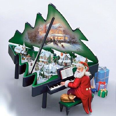 Santa's Grand Christmas - Piano Thomas Kinkade - Bradford Exchange