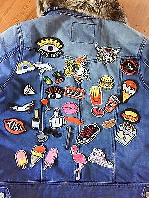 DIY Project 36 Pieces Iron On Sew On Embroidered Bulks Patches
