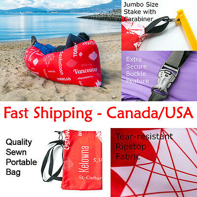 WindyCoach TM Inflatable Portable Air Sofa Lounger Canada Edition Ripstop Fabric