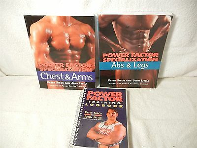 Power Factor Training Peter Sisco John Little Chest Arms Abs Legs Logbook
