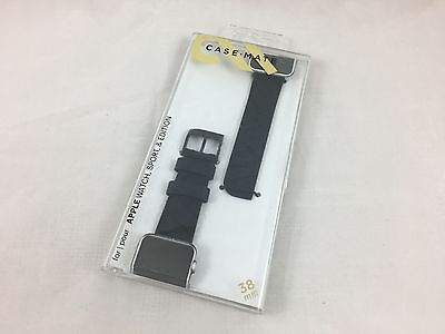 Case Mate CM032787 Band for Apple Watch Scaled Black 38mm NEW