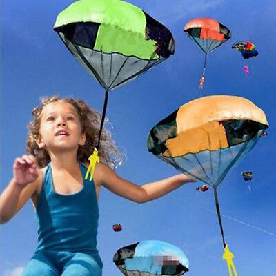 Hand Throwing kids mini play parachute Outdoor sports toy soldier