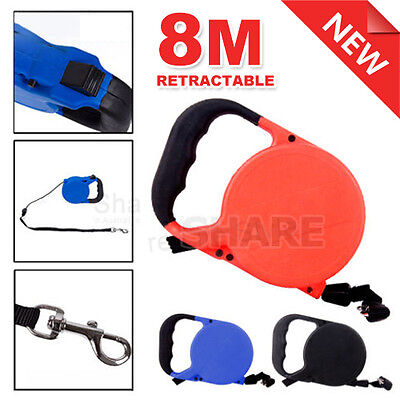 8M Pet Dog Cat Puppy Automatic Retractable Traction Rope Walking Lead Leash