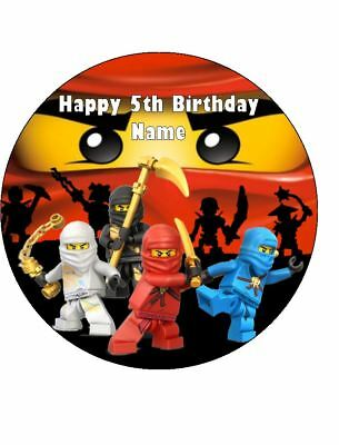 LEGO NINJAGO Edible Wafer Paper Birthday Cake Decoration & 12 Cupcake Toppers