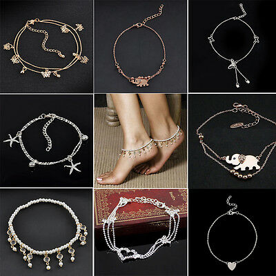 NEW Fashion Women Gold/Silver Butterfly Anklet Ankle Chain Bracelet Foot Jewelry