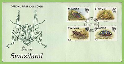 Swaziland 1988 Insects set on First Day Cover