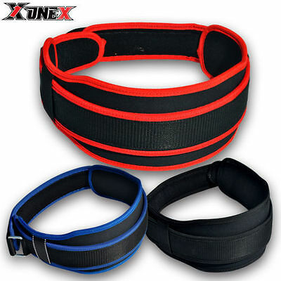 Weight Lifting  Leather Belt Back Support Strap Gym Power Training Work Fitness
