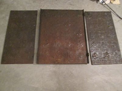 Antique W. Jackson & Son Cast Iron Fireback With Sides