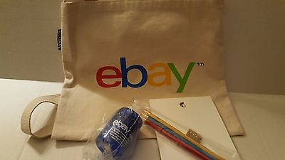 Ebay Canvas Tote Mail Chimp Pencils and Sharpener Ebay Radio Paper clip holder