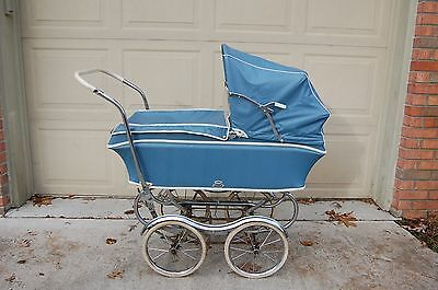 Vintage REX Stroll-O-Chair Baby Stroller Carriage with Chrome Fenders - NICE!