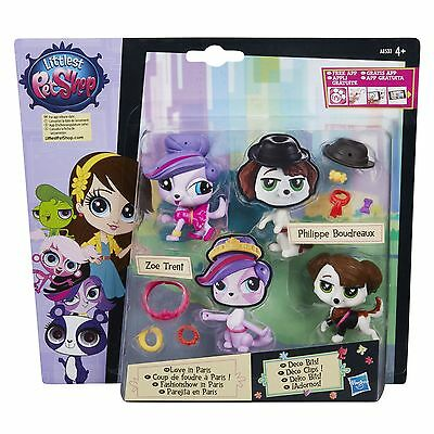 Littlest Pet Shop LOVE IN PARIS Pet Pair: Zoe Trent & Philippe Boudreaux (A8534)