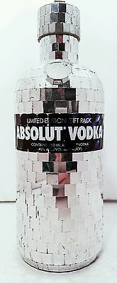 Absolut Disco Glitter Ball Silver Skin 750Ml Bottle Empty Htf