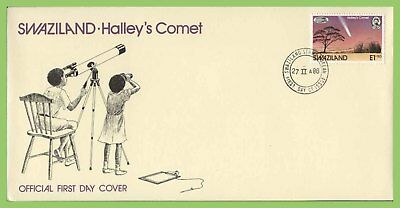 Swaziland 1986 Halleys Comet on First Day Cover