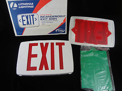 Lithonia Lighting Incandescent Exit Sign QM S W 3 R 120 NEW 427486