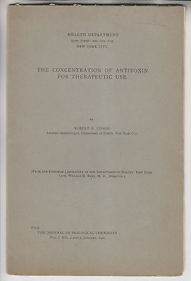 2 1906 - 1907 - Nyc Health Department Booklets - Antitoxin - Robert Gibson