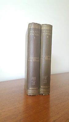 Select Papyri - Hunt & Edgar (Loeb Classical Library) 2 Volumes