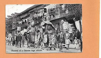 Funeral Of A Chinese High Official 1921   Vintage Postcard