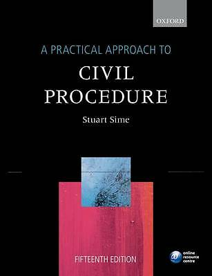 Practical Approach to Civil Procedure (A Practical Approach), Good Condition Boo