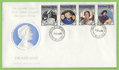 Swaziland 1985 Queen Mother set on First Day Cover