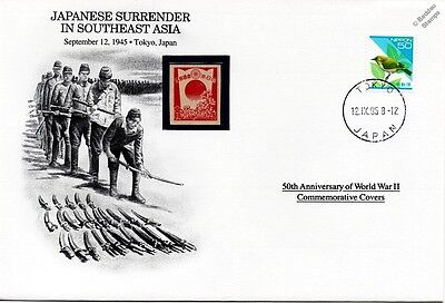 WWII 1945 Japanese Surrender in Southeast Asia Stamp Cover (Japan/Danbury Mint)