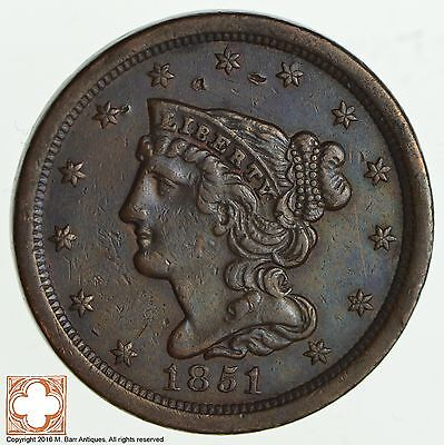 1851 Braided Hair Half Cent *1995