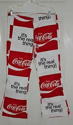 Coca Cola Vintage Bell Bottom Pants Real Thing 1970's Retro
