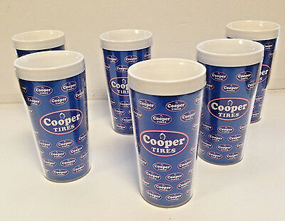 Cooper Tires Thermal Cups Glasses Mug Man Cave Set Of Six