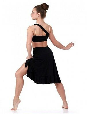 No Boundries Dance Costume BLACK Lyrical Top,Skirt and Briefs Ballet Clearance