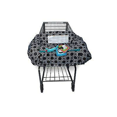 Boppy Shopping Cart and High Chair Cover - City Squares Black and White