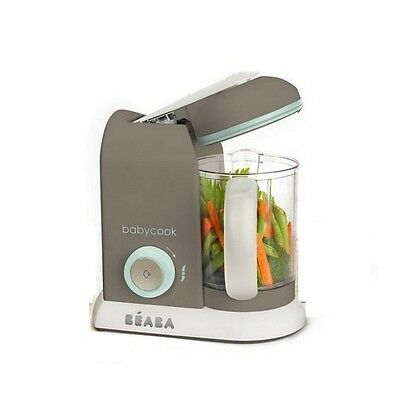 BEABA BABYCOOK SOLO BABY FOOD PROCESSOR STEAM COOK BLEND DEFROST - grey & white