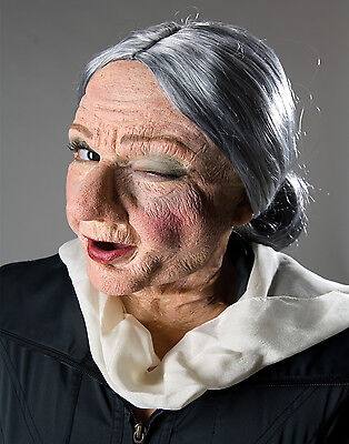 Old Lady Granny Prosthetic Makeup Halloween Kit-Reel F/X
