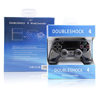 Brand New Black Non Official Ps4 Wired Controller For Sony Playstation