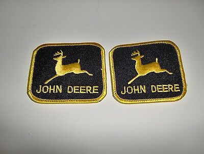 Lot of 2 JOHN DEERE Black & Gold/Yellow Patches