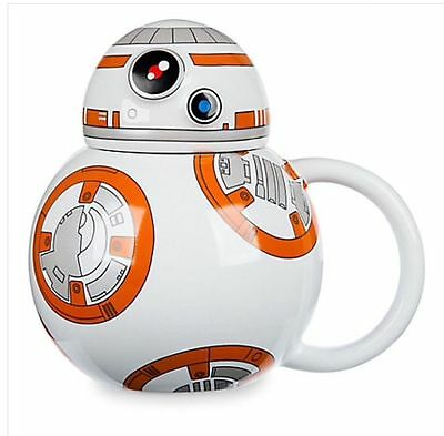 Lucasfilms Star Wars BB-8 3D Ceramic Mug with Lid Coffee Cup Force Awakens