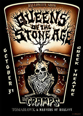 Emek Queens Of The Stone Age The Cramps Greek Theatre Los Angeles 2003 Poster