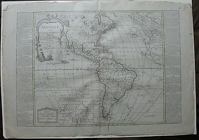 Original 1807 Map of the Americas by Nolin