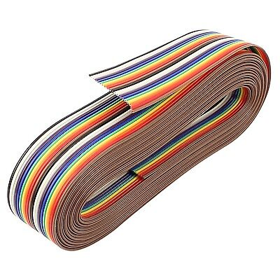 uxcell 3.66M 20Pin Rainbow Color Flat Ribbon Cable IDC Wire for Arduino