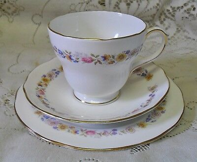 Duchess Meadowsweet Floral Garland Trio Cup Saucer Plate Made In England