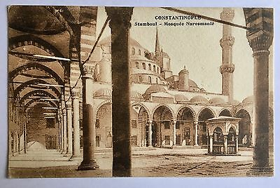 Constantinople Turkey Stamboul Mosque Nurosmanie Old Postcard 1910