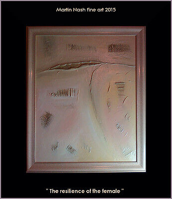 """ THE RESILIENCE OF THE FEMALE ""  - rrp £295 : FRAMED ORIGINAL BY MARTIN NASH"