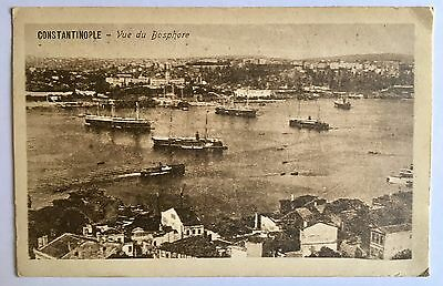 CONSTANTINOPLE Old Postcard Bosphore Veiw Not Used Good Condition