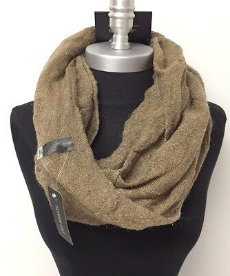 NEW Women's Simple 2-Circle Knit Cowl Long Infinity Scarf Wrap Soft Brown