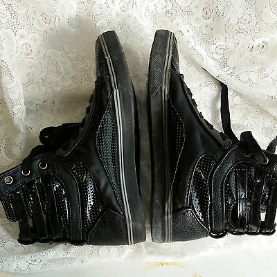 Balera HIP HOP Black High Top DANCE SNEAKERS Shoes Size 7