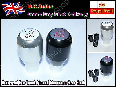 Universal Car Truck Manual Aluminum Gear Knob(Black)
