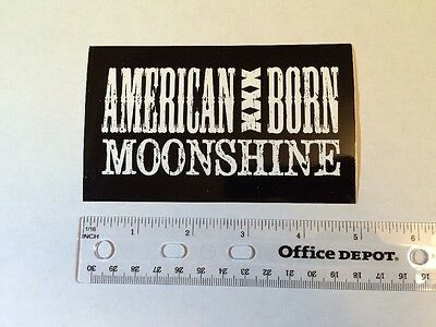 AMERICAN XXX BORN MOONSHINE Craft Spirits STICKER Decal Beer Brewing Brewery