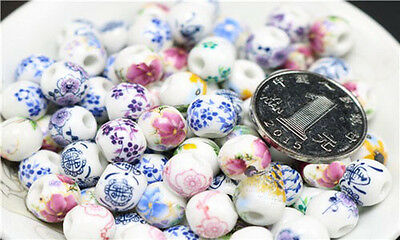 50/100 Qty! Porcelain Beads For DIY/Hand-woven Jingdezhen Ceramic 8,10,12mm