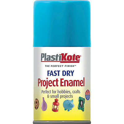 Plastikote Dry Enamel Aerosol Spray Paint Sky Blue 100ml